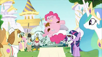 Everypony staring at Pinkie Pie S2E24