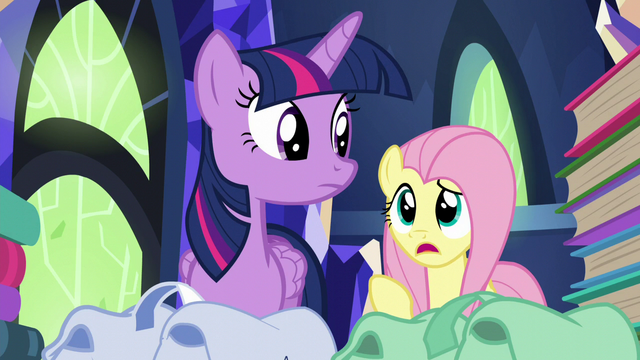 "File:Fluttershy ""you said 'books' twice"" S5E23.png"