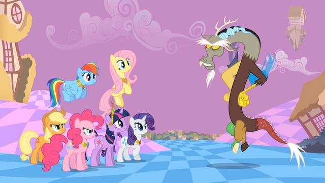File:Main ponies Discord Annoyance2 S2E2.png