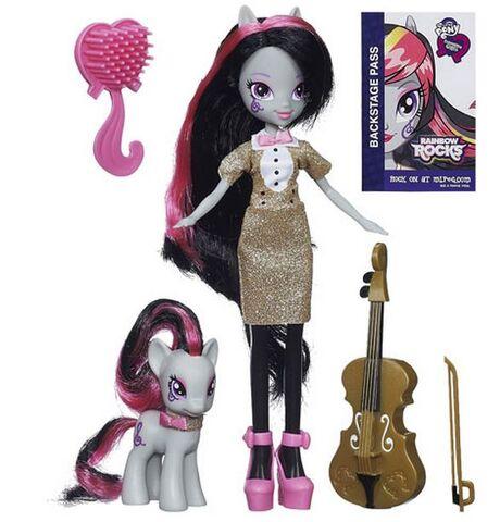 File:Octavia Melody Equestria Girls Rainbow Rocks doll and pony set.jpg