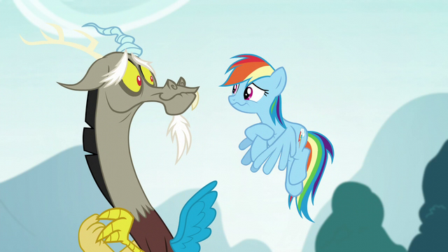 File:Rainbow and Discord cracking up S5E22.png