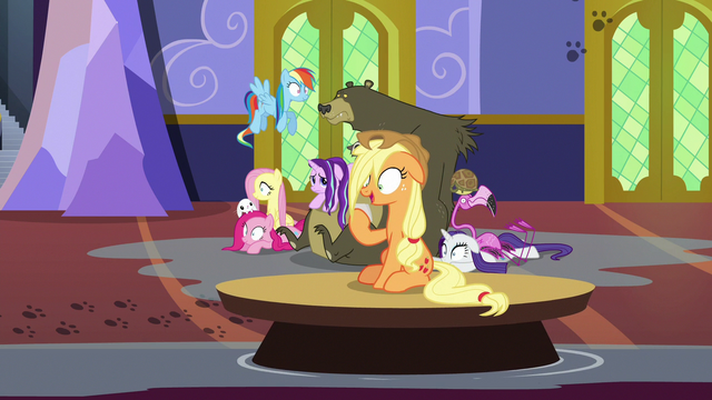 File:Applejack drifts by on a floating table S6E21.png