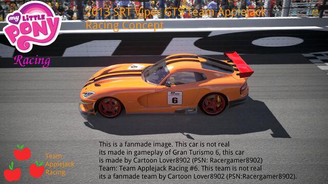 File:FANMADE MLP racing team aj's car.jpg
