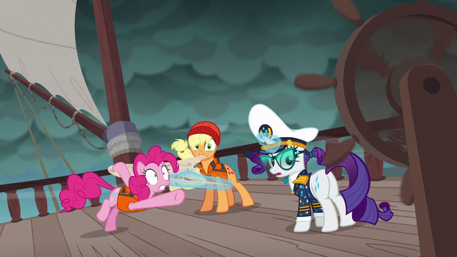 File:Pinkie Pie points to ship steering wheel S6E22.png