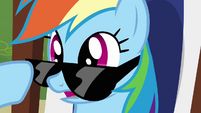 Rainbow Dash lifting glasses S3E3