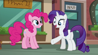 "Rarity ""Why not sight-see on a path that leads right to the pouch store?"" S6E3"