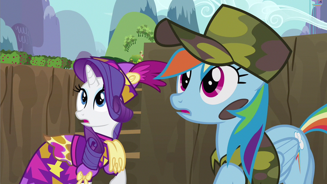 File:Rarity & Rainbow Dash catch ear S2E21.png