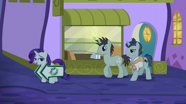 File:Rarity leads stallions toward The Tasty Treat S6E12.png