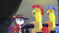 The royal guards listen to Rarity S5E15.png