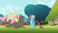 Fluttershy pushing seal S2E07.png