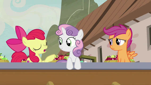 """File:Apple Bloom """"she's just been orderin' a lot of apples"""" S7E8.png"""