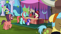 Cherry Jubilee and a stallion selling cherries S5E11