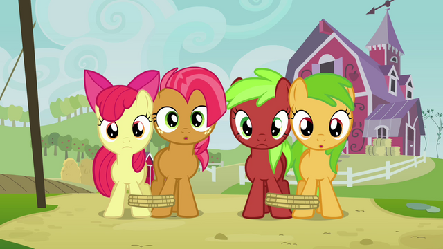 File:Apple Bloom, Babs and fillies staring S3E08.png