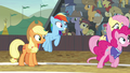Fluttershy and Pinkie return to the game S6E18.png