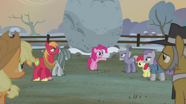 "File:Pinkie Pie ""it's tradition to raise a flag"" S5E20.png"