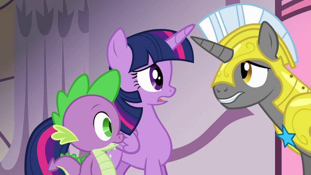 "File:Twilight and royal guard ""vanished!"" S4E01.png"