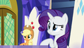 AJ and Rarity looking at Rainbow Dash S7E14.png