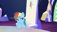 Rainbow laughing silently at Twilight S6E15
