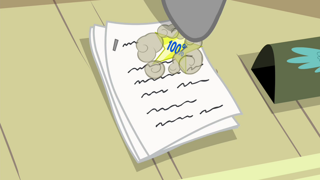 File:Whiplash stamps sticker on test paper S4E21.png