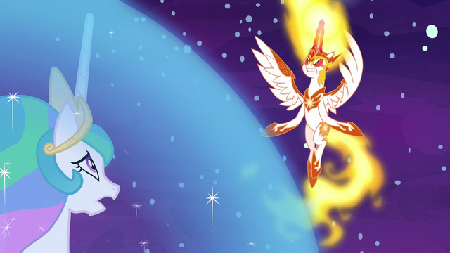 File:Daybreaker hovering outside Celestia's barrier S7E10.png