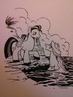 Hoofbeard and Jewel sketch by Brenda Hickey