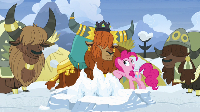 File:Pinkie Pie nudging Rutherford with her elbow S7E11.png
