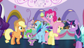 Pinkie pops out and presents a cupcake S5E14.png