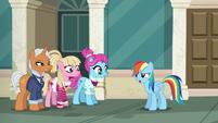 "Rainbow Dash ""I don't get fabric"" S6E9"