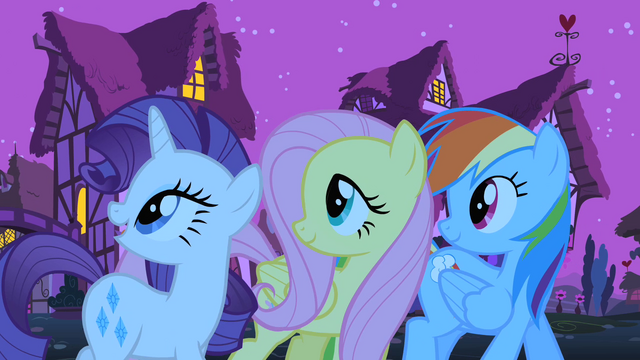 File:The ponies look back at Pinkie Pie S1E25.png