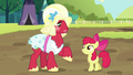 Apple Bloom and Orchard Blossom happy and victorious S5E17.png