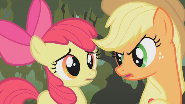 File:Applejack saving Apple Bloom S01E09.png