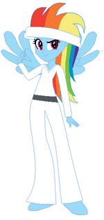 FANMADE Rainbow Dash Human Karate