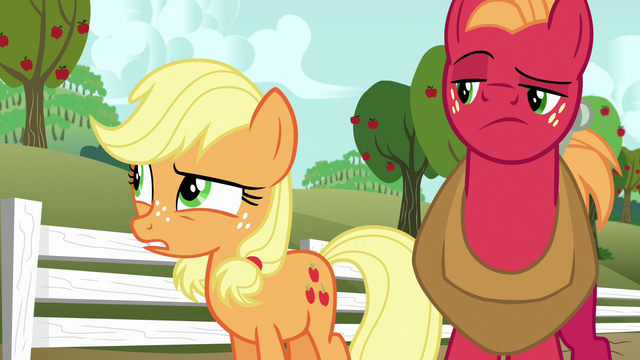 """File:Applejack """"workin' in the orchards for so many years"""" S6E23.png"""