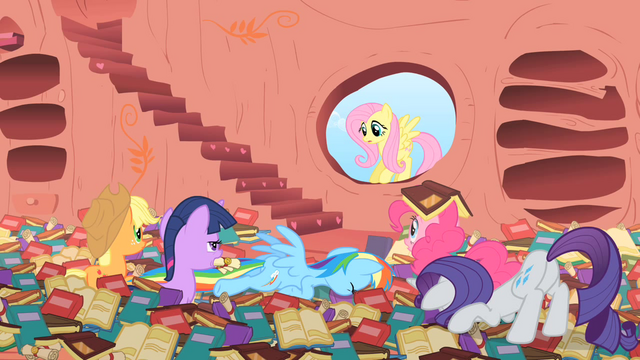 "File:Fluttershy ""Did my cheering do that?"" S1E16.png"