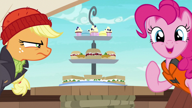 """File:Pinkie Pie """"I brought food too!"""" S6E22.png"""