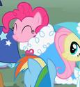 Pinkie Pie taffeta cape ID S2E10