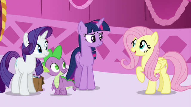 "File:Fluttershy ""How was your book-sort-cation?"" S5E22.png"