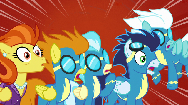 File:The Wonderbolts and Stormy Flare shocked S5E15.png