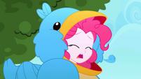 Pinkie Pie coughs up a bird feather SS10