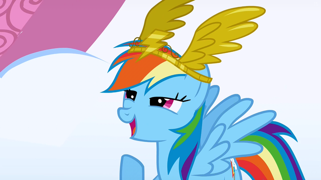 File:Rainbow Dash receiving the award S1E16.png