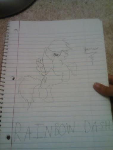 FANMADE James The Bunny's Rainbow Dash drawing