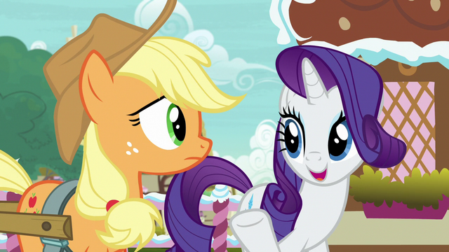 """File:Rarity """"Applejack is an unorthodox choice"""" S7E9.png"""