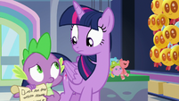 Spike reminds Twilight of the schedule again S7E3