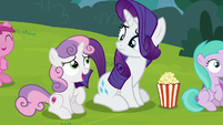 Sweetie Belle continues to indulge Rarity S7E6
