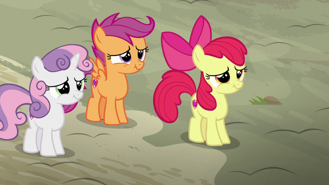 File:Cutie Mark Crusaders about to laugh S7E8.png