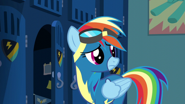 File:Rainbow Dash hears Spitfire S6E7.png