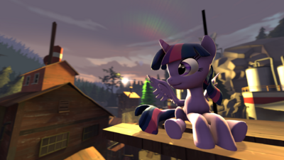 FANMADE - SFM Twilight Sparkle Sit at the Sunset