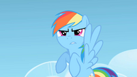 Rainbow Dash bracing herself for phase 3 S1E16