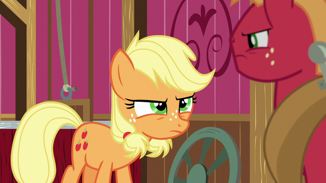 File:Young Applejack arguing with Big Mac S6E23.png