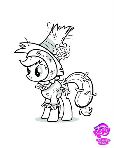 File:Applejack color page halloween.jpg